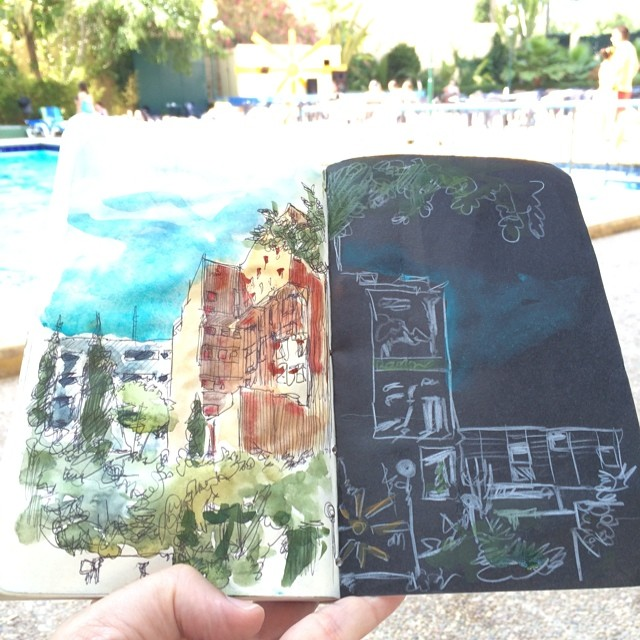 #benidorm #bic #urbansketch #watercolor finishing sketchbook