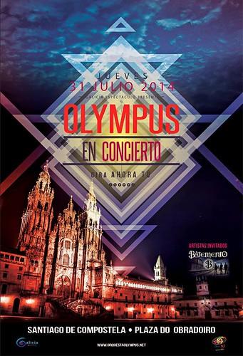 Santiago de Compostela 2014 - Festas do Apóstolo - cartel actuación Olympus