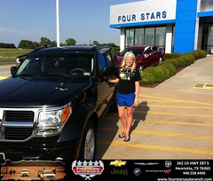 #HappyAnniversary to Claude And Mary Morrow on your 2009 #Dodge #Nitro from Mark Havens at Four Stars Auto Ranch!