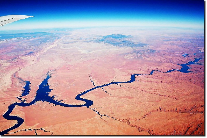 Looking down Colorado River from the air 9