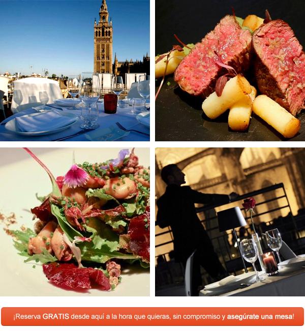 El restaurante EME Catedral, el mejor restaurante para cenar en Sevilla con las mejores vistas