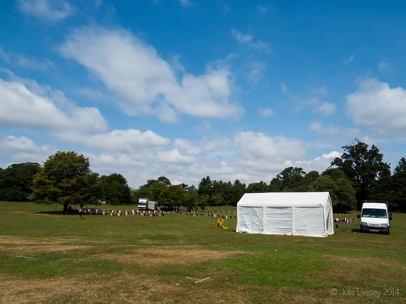 Setting up for the Poole Town & Country Show