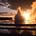Sonnenuntergang Great Fountain Geyser
