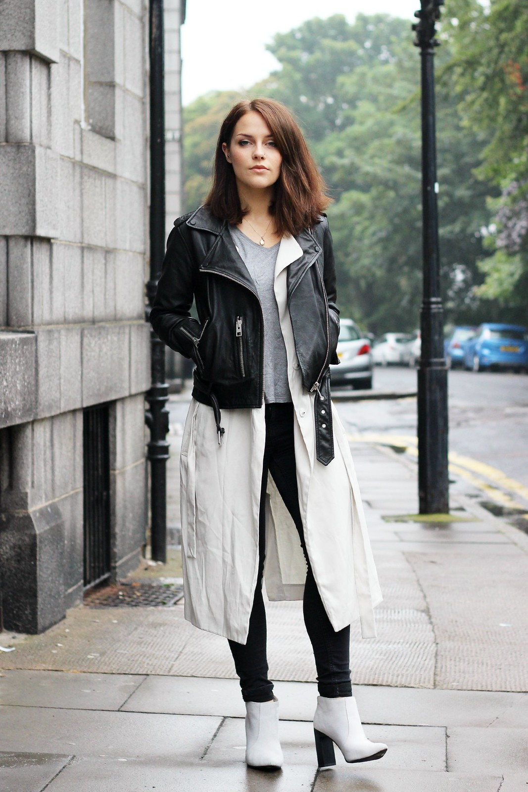 All Saints leather biker jacket 1
