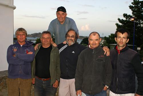 10/08/2014 - Chez Masson (Le Diben en Plougasnou) : Les finalistes du concours de boules plombées en triplettes formées