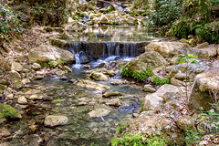 stream, waterfall, water feature, water, river, creek, body of water, watercourse, forest, wilderness, stream bed, rock,