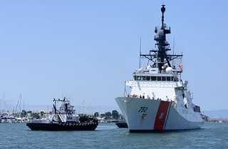 The Coast Guard Cutter Bertholf returns to its homeport in Alameda, Calif., , after a 140-day patrol. The crew of the Coast Guard Cutter Bertolf was deployed to Eastern Pacific Ocean off the coast of Centeral and South America in support of Joint Interagency Task Force-South counter-drug operations. U.S. Coast Guard photo by Petty Officer 3rd Class Loumania Stewart