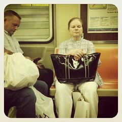Monday night F train. #nycsubwayportraits #nyc #train #subway #publictransportation #commute