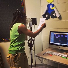 @danamipics recording yesterday during #FreedomSchool 2014 at #StadiumView.   #amplifiedlife #hiphop #literacy