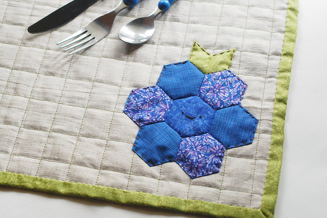 Berry EPP Quilted Placemat