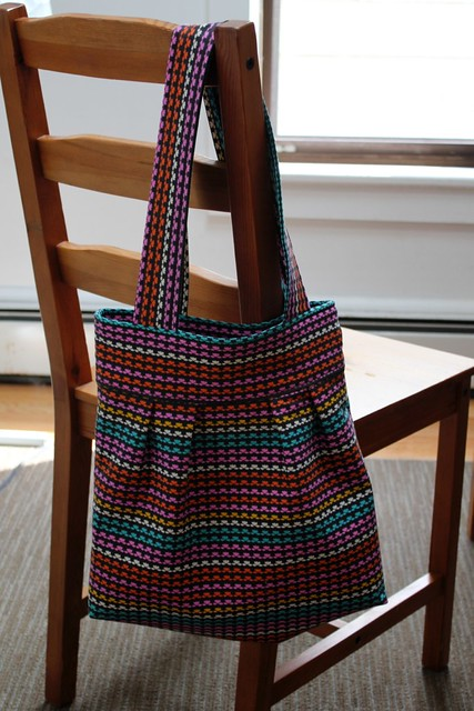 Pleated Tote Knitting Project Bag