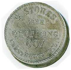 Granville Stokes Atlantic Cable token obverse