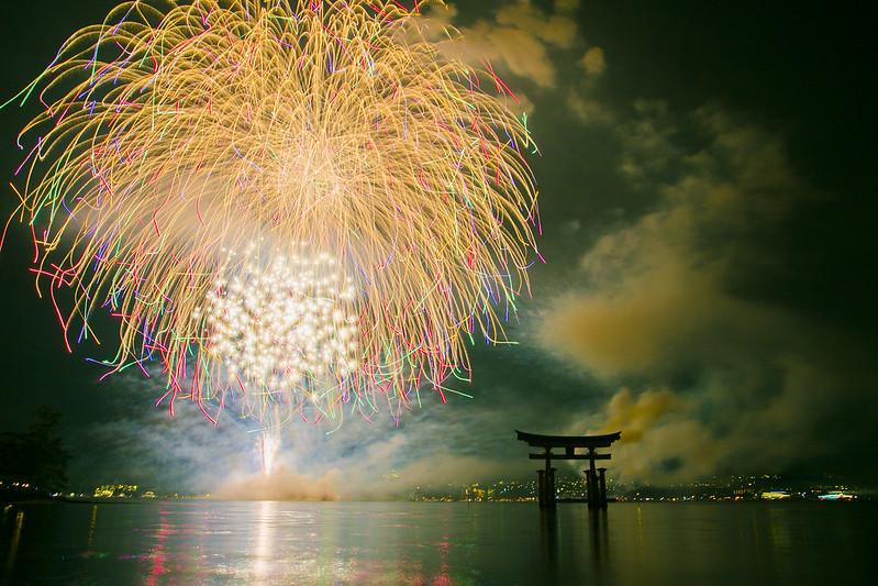 宮島水中花火大会2014(大鳥居前)272