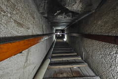 Inside the Red Pyramid - The 61m. long passage leading to the master chamber