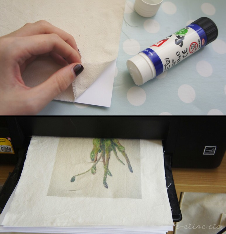 diy print photos onto fabric