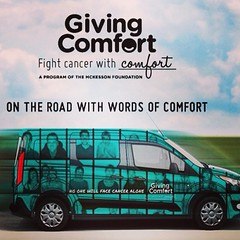 I'll be covering and blogging about the Gainesville stop of the Giving Comfort bus tour today. Giving Comfort provides care packages to low income cancer patients during treatment. I'm going to be live posting here on Instagram and also Facebook and Twitt