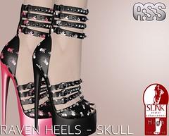 A:S:S - Raven heels for SLINK high feet