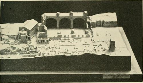 """2). ROMA ARCHEOLOGIA e RESTAURO ARCHITETTURA: G. Boni - """"Plastico del Foro Romano che mostra lo 'stato attuale' delle rovine nei primi anni del 20 ° secolo"""" (The Metro. Museum of Art), in: T. H. Reed, """"LOYAL CITIZENSHIP,"""" WORLD BOOK : NEW YORK (1922)."""