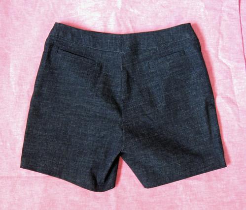 shorts back flat