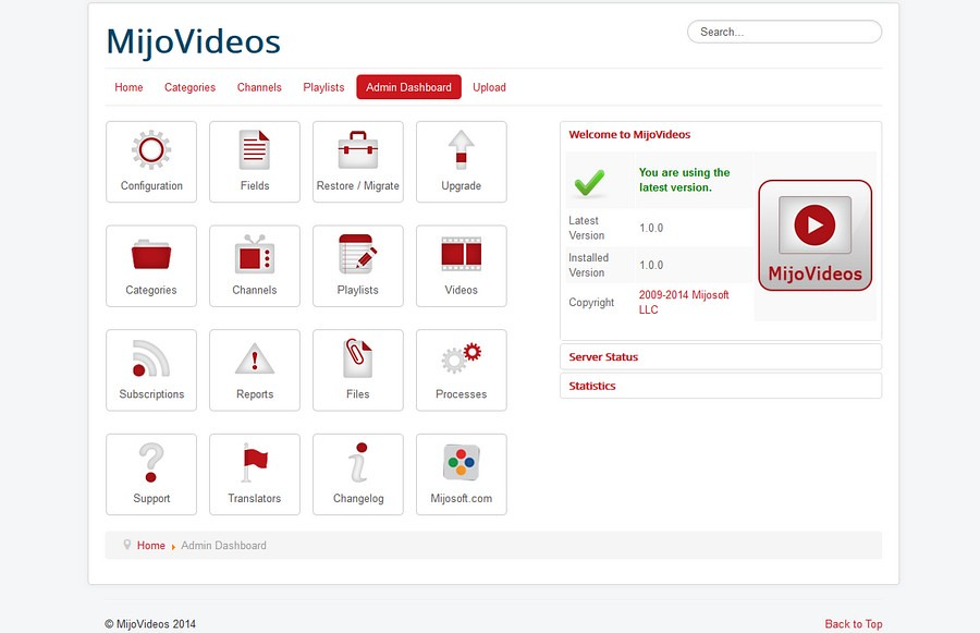 mijovideo-dashboard-admin