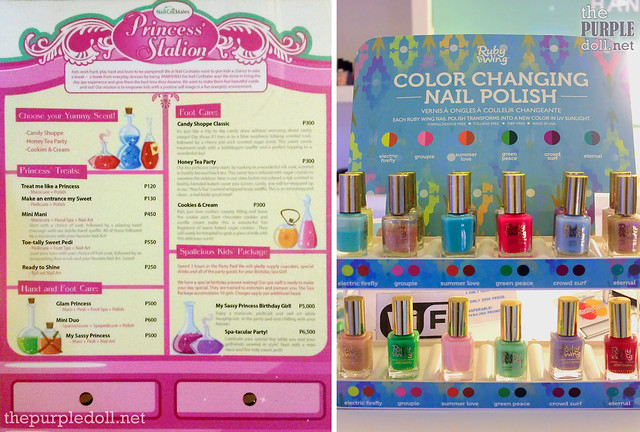 Nail Cocktales Bluebay Walk Princess' Station Menu and Color-Changing Polishes