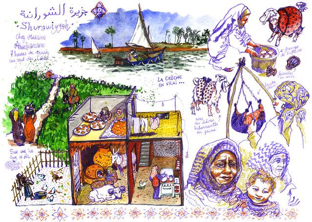 Egypte - La famille d'Abdel Rahmane