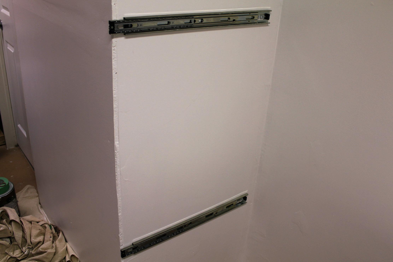 drawer slides sliding wall laundry room