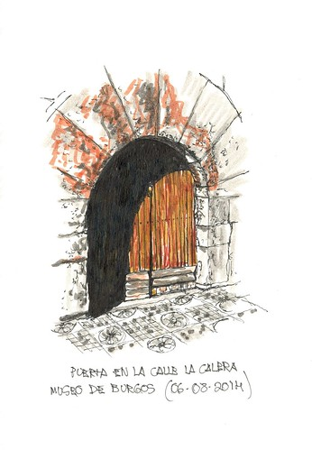Puerta en la Calle Calera en Burgos