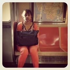Friday morning A train. #nycsubwayportraits #nyc #train #subway #publictransportation #commute