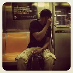 Friday morning 3 train. #nycsubwayportraits #nyc #train #subway #publictransportation #commute