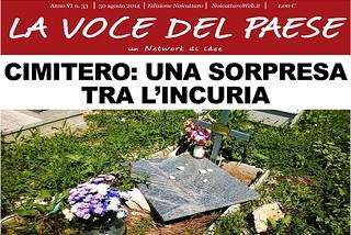 Noicattaro. Prima pagina n.33-2014 front