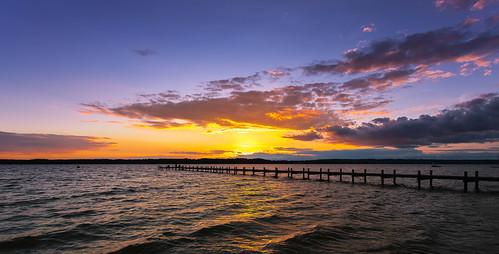sunset sky weather germany bayern deutschland see wasser sonnenuntergang cloudy himmel wolken starnberg starnbergersee ef1740mmf4lusm canon5dmkii robertmehlan