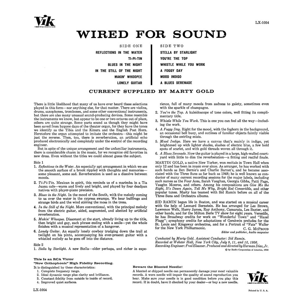 Marty Gold - Wired for Sound