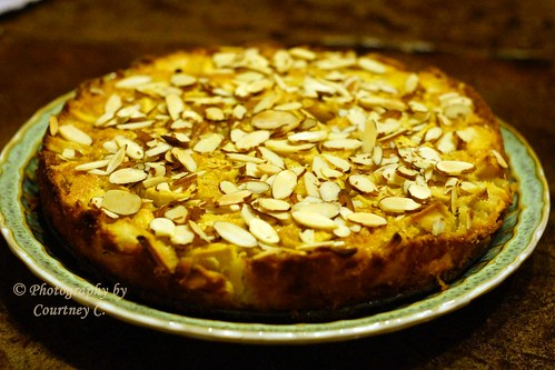 French Apple Cake with Almonds (recipe by Hillary Lodge)