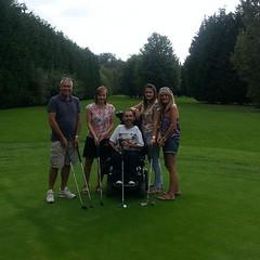 The golfing massive!