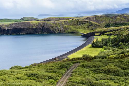green landscape iceland islandia