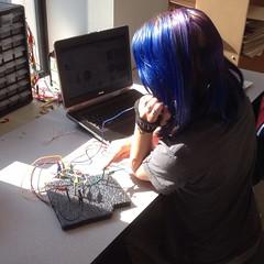 Makey Makey keyboard apparatus.