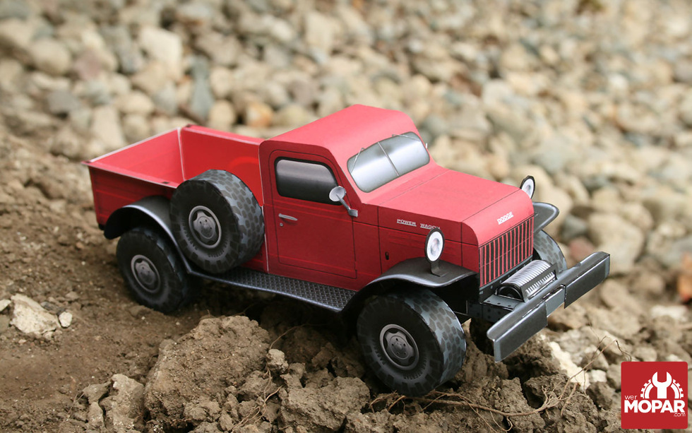 Paper Power Wagon Off-Roading
