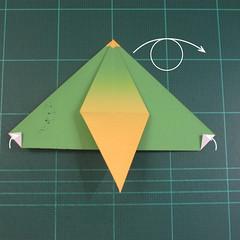 วิธีพับกระดาษเป็นรูปนกแก้ว (Origami Parrot) 017