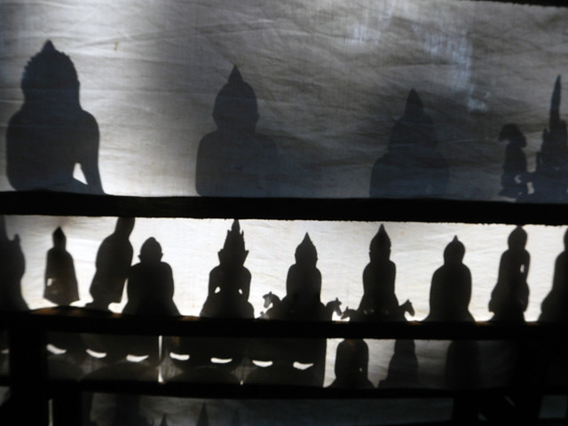 Shadow Buddhas at Mandalay, Myanmar