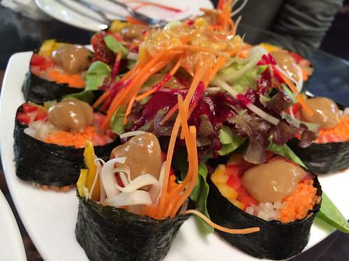 Vegetable Sushi : Rasayana Raw Food