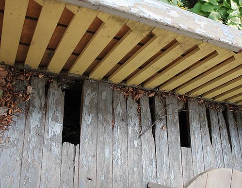 old porch, the treacherous area