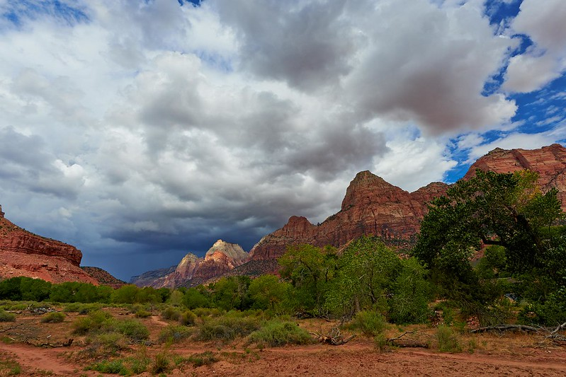 Thunderstorm over the Mountains - Zion National Park