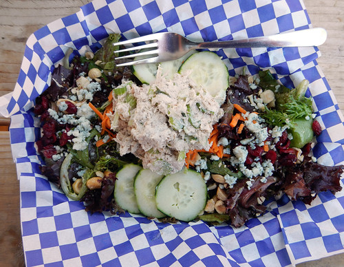 At Cascade Locks, Thunder Island Brewing Company Salad