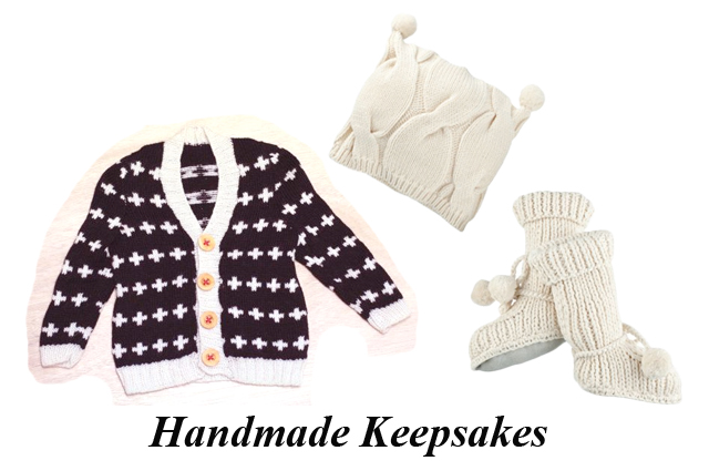 baby shower gift ideas, handknit baby sweaters, etsy, winter baby clothes, my fair vanity, ethical style