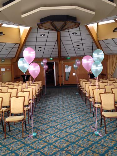 Tafeldecoratie 3ballonnen Gronddecoratie Carlton Oasis Hotel Spijkenisse