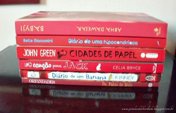 Livros vermelhos