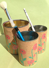 #30DaysOfUpcycling  Day9---> Upcycled Tin Can Organiser