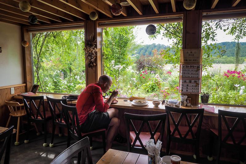 Lunch at a local garden cafe (near Tsurui, Hokkaido, Japan)
