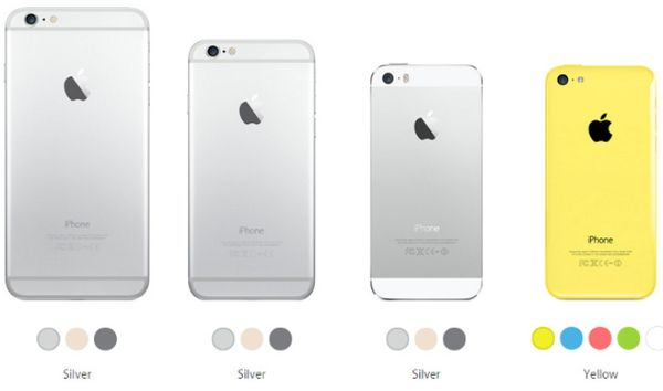 Apple iPhone 6 vs 6 Plus vs 5s vs 5c